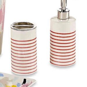 Kate Spade Toothbrush Holder & Lotion Dispenser